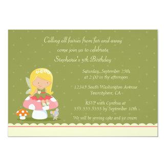 Invitación de la fiesta del cumpleaños del chica invitación 12,7 x 17,8 cm