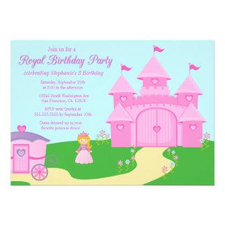 Invitación de la fiesta del cumpleaños del chica d
