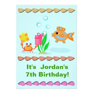 Invitación de la fiesta del cumpleaños del niño de