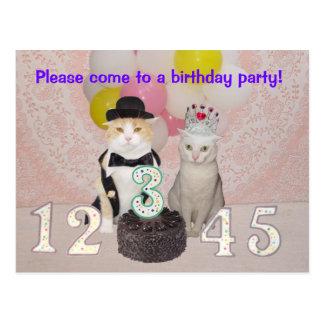 Invitación de la fiesta del cumpleaños del niño tarjetas postales