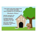 Invitación de la fiesta del cumpleaños del perrito