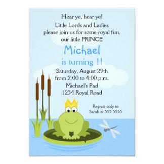Invitación de la fiesta del príncipe cumpleaños de