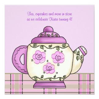 Invitación de la fiesta del té