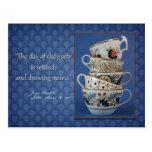Invitación de la fiesta del té de Jane Austen Tarjetas Postales
