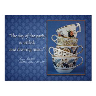 Invitación de la fiesta del té de Jane Austen Postal
