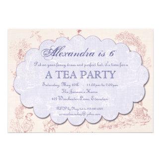 Invitación de la fiesta del té del cumpleaños de T