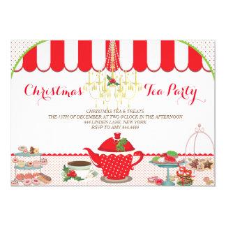 Invitación de la fiesta del té del navidad