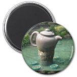 Invitación de la fiesta del té:  Parque chino del  Iman Para Frigorífico