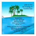 Invitación de la fiesta en la piscina invitación 13,3 cm x 13,3cm