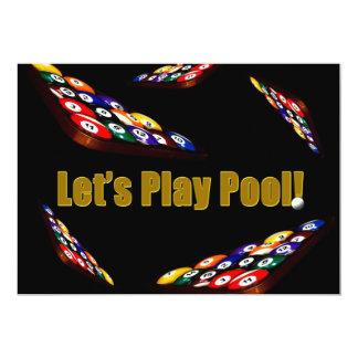 Invitación de la fiesta en la piscina - billares