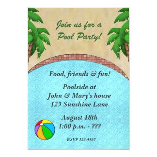 Invitación de la fiesta en la piscina de la