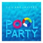 Invitación de la fiesta en la piscina de la nataci