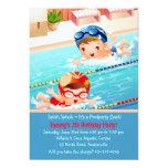 Invitación de la fiesta en la piscina de los bebés invitación 12,7 x 17,8 cm