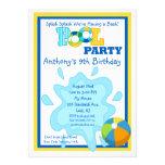 Invitación de la fiesta en la piscina de los mucha