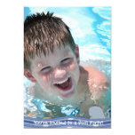 Invitación de la fiesta en la piscina del chapoteo invitación 12,7 x 17,8 cm