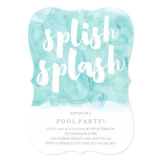 Invitación de la fiesta en la piscina del chapoteo
