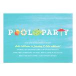 Invitación de la fiesta en la piscina del cumpleañ