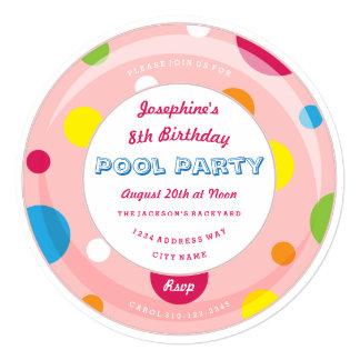 Invitación de la fiesta en la piscina del tubo