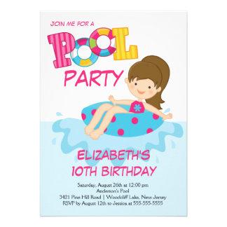 Invitación de la fiesta en la piscina del verano d