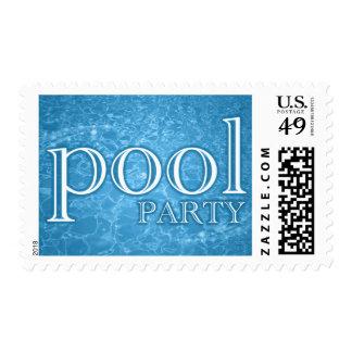 invitación de la fiesta en la piscina: starshine sellos