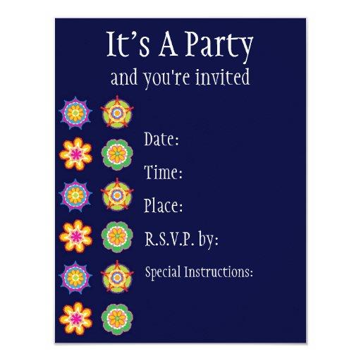 Invitación de la fiesta invitación 10,8 x 13,9 cm