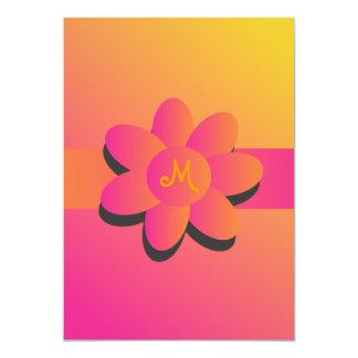 Invitación de la flor de los días soleados