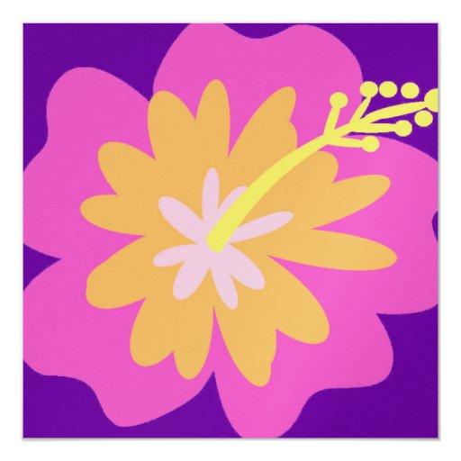 Invitación de la flor del hibisco
