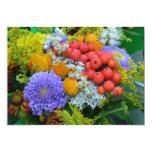 Invitación de la flor invitación 12,7 x 17,8 cm