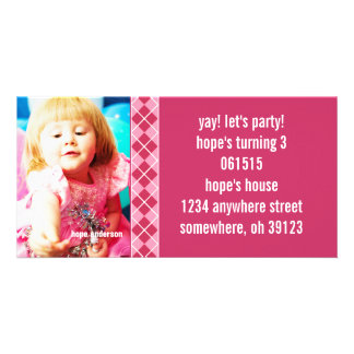 Invitación de la foto de Argyle Birthdy de la Tarjetas Fotográficas Personalizadas