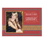 Invitación de la foto de Bachelorette (rojo de Invitación 12,7 X 17,8 Cm