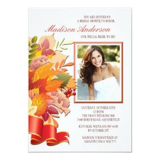 Invitación de la foto de colores de la caída invitación 12,7 x 17,8 cm