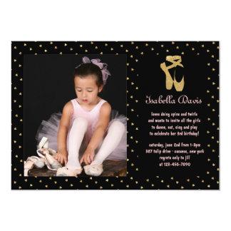 Invitación de la foto de la bailarina del amor