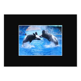 Invitación de la foto de la ballena