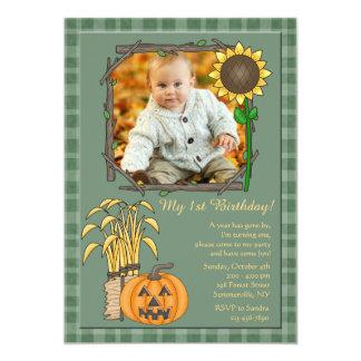 Invitación de la foto de la estación del otoño