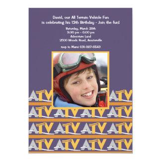 Invitación de la foto de la fan de ATV