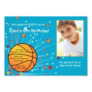 Invitación de la foto de la fan de baloncesto