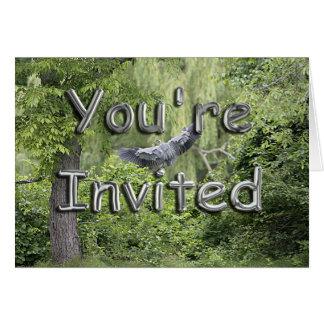 Invitación de la foto de la fauna tarjeta de felicitación