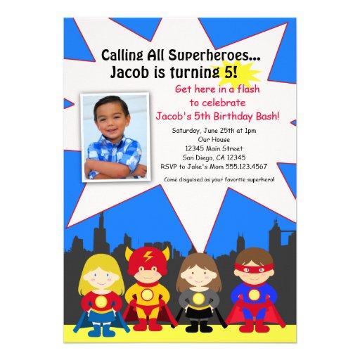 Invitación de la foto de la fiesta de cumpleaños d