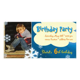 Invitación de la foto de la fiesta de cumpleaños tarjetas fotograficas personalizadas