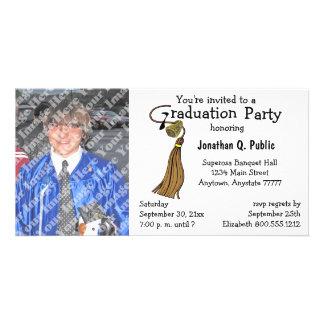 Invitación de la foto de la fiesta de graduación d tarjetas fotográficas personalizadas