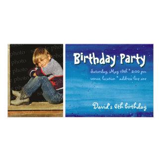 Invitación de la foto de la fiesta del cumpleaños tarjeta personal