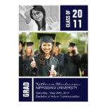 Invitación de la foto de la graduación