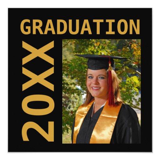 Invitación de la foto de la graduación 20XX