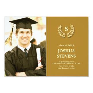 Invitación de la foto de la graduación de la ley