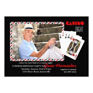 Invitación de la foto de la noche del casino