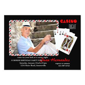 Invitación de la foto de la noche del casino invitación 12,7 x 17,8 cm