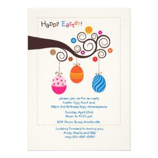 Invitación de la foto de la rama de Pascua