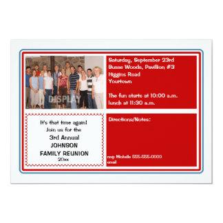 Invitación de la foto de la reunión de familia