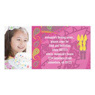Invitación de la foto de Paisley Birthdy Tarjeta Fotografica Personalizada