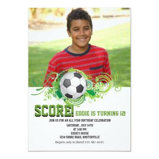 Invitación de la foto del aficionado al fútbol invitación 12,7 x 17,8 cm